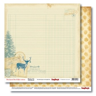 36762 Scrapberrys Dubbelzijdig Papier 30,5x30,5 cm That Special Time of Year Christmas Doe.