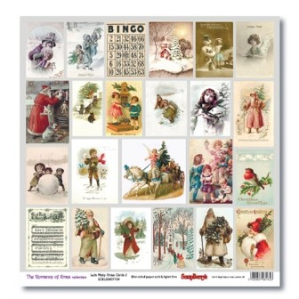 36769 Scrapberry Enkelz. Papier 30,5x30,5 cm The Romance of Xmas Cards 2.