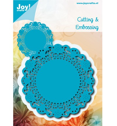 36808 Joy Crafts Cutting/Embossing Doilie Rond 100x100 mm (6002/0478).