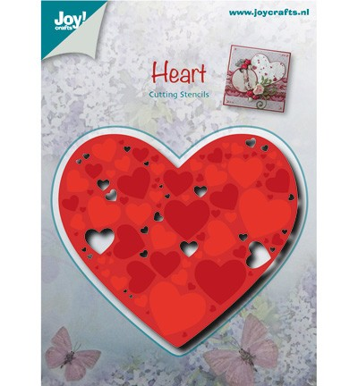 36810 Joy Crafts Cutting/Embossing Hart Gevuld met Harten86x77 mm  (6002/0481).