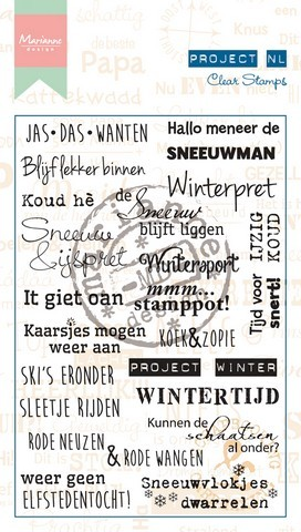 36852 Marianne Design Clearstamp Project NL - Winter (NL) (PL1517).