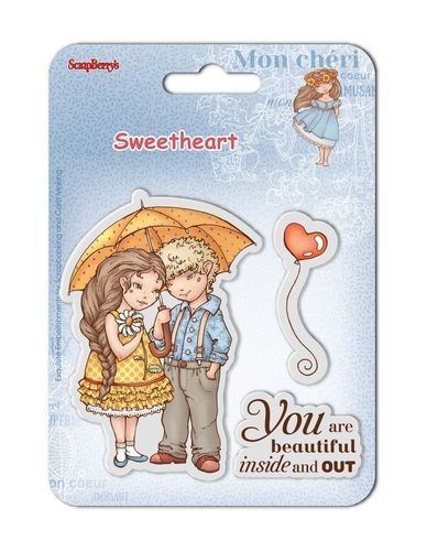 36869 Scrapberrys Clearstamps Sweetheart NO 1 - 10,5x10,5 cm.