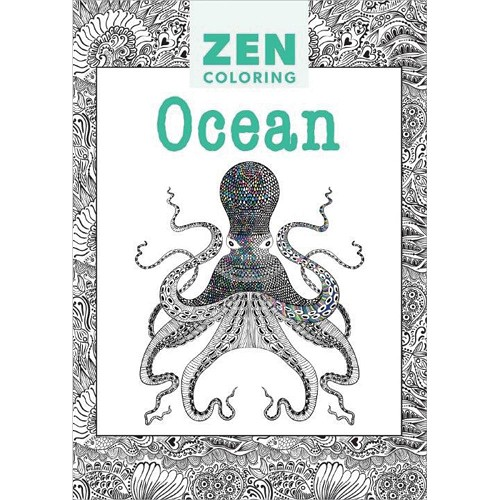 37016 Guild Of Master Craftsman Books Kleurboek Zen Coloring Ocean.