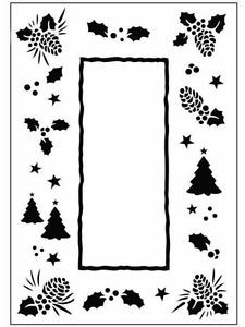 37067 Crafts Too Embossing Folder Christmas Tree Frame A6.