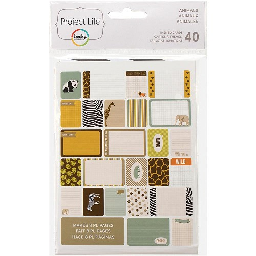 37147 Project Life Themed Cards 40/Pkg Animals.