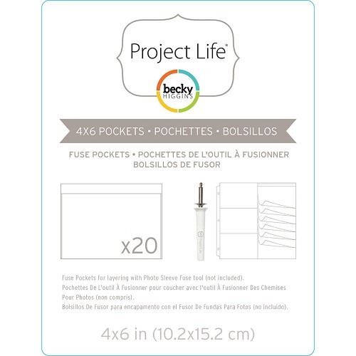 "37148 Project Life Photo Sleeve Fuse 20/Pkg 4""X6""/10,2x15,2 cm."