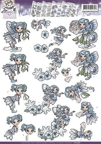 37276-684 3D Knipvel - Yvonne Creations - Magical winter - Fairies (CD10587).