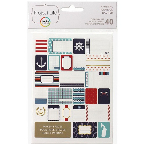 37344 Project Life Themed Cards 40/Pkg Nautical.