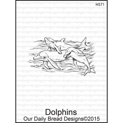 37535 Our Daily Bread Cling Stamps Dolphins 4,5x7 cm.
