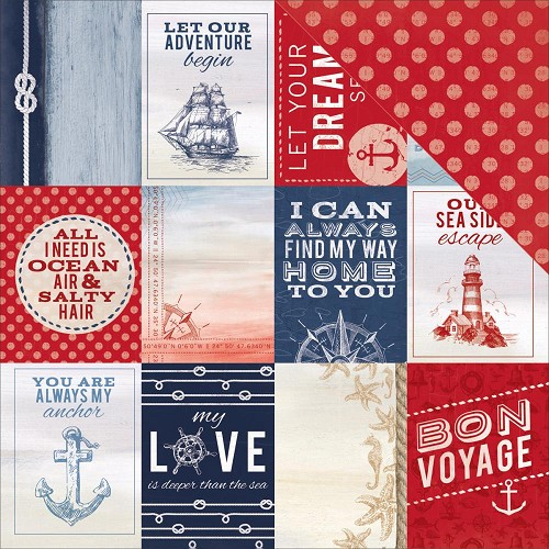 37568 Kaisercraft Sail Away Collection 2-Sided Paper 30,5x30,5 cm Cruise.