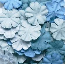 37661 Reprint Small Flowers 60 Stuks Blue.