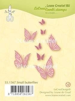 37710 Leane Clearstamp Small Butterflies.