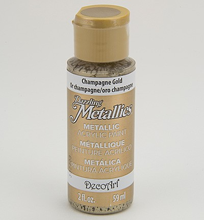 37760 Deco Art Dazzling Metallics Finish 59 ML Champagne Gold (DA202).