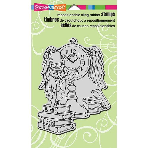 37769 Stampendous Fran`s Cling Stamp 9,5x13 cm Owl Clock.