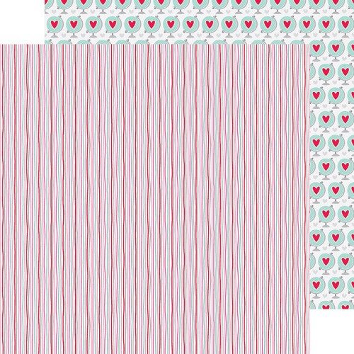 37786 Doodlebug Sweet Things Double-Sided Paper 30,5x30,5 cm Heart Strings.