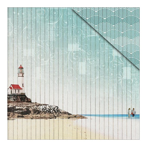 38055 Fabscraps Beach Bliss Double-Sided Paper 30,5x30,5 cm Lighthouse 1.