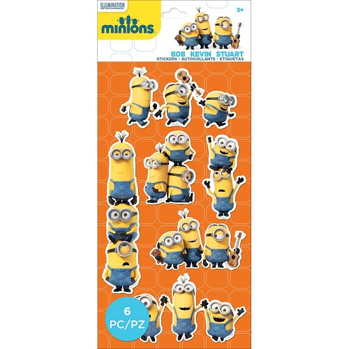 38061 EK Succes Minions Mini Flat Stickers Minions Group.