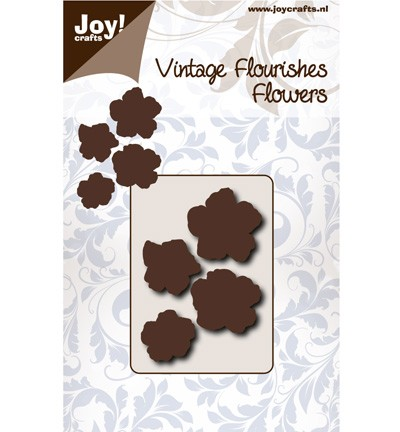 38125 Joy Crafts Cutting Vintage Flourishes Bloem 5 Blad (6003/0066).