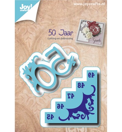 38136 Joy Crafts Cutting & Debossing 50 jr met Trap (6002/0485).