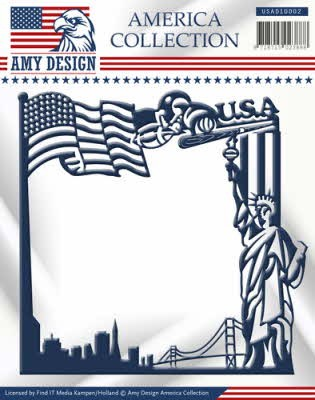 38171 Die - Amy Design - America Collection - America Frame.