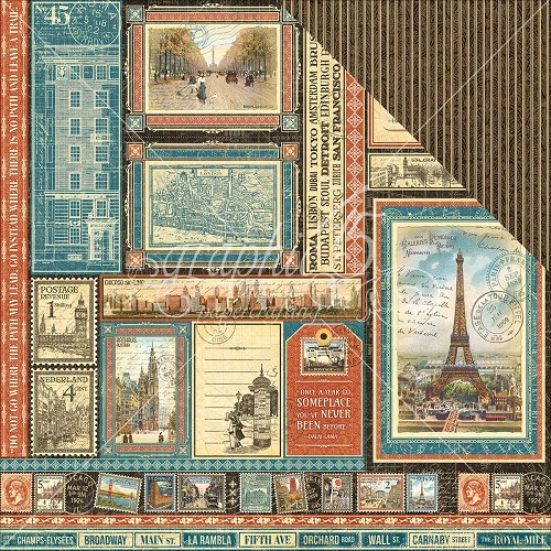 38490 Graphic 45 Cityscapes 30,5x30,5 cm Global Odyssey (4501304).