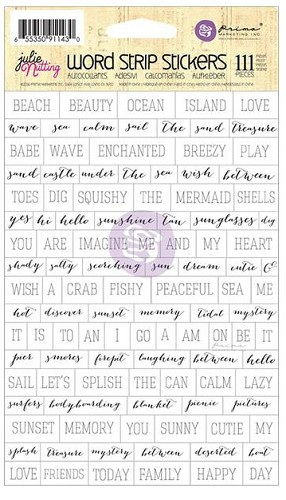 "38592 Julie Nutting Mixed Media Stickers 5""X8.5""Word Strips."