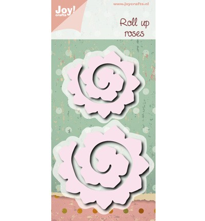 38687 Joy Crafts Cutting Roll Up Bloemen maken 2pcs / 70 x 65 / 56 x 52mm (6002/0472).