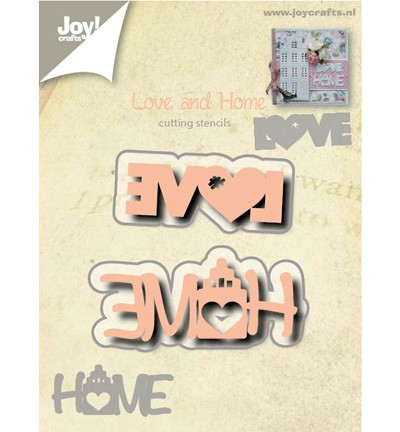 38689 Joy Crafts Cutting Love & Home 43 x 15 + 54 x 23mm (6002/0527).