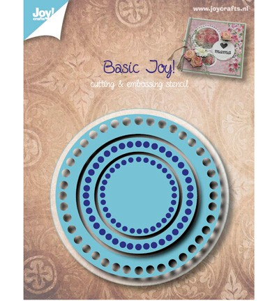 38691 Joy Crafts Cutting & Embossing basis Rond 70 x 70 / 50 x 50 / 30 x 30mm rond (6002/0528).