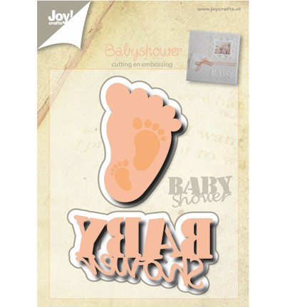 38692 Joy Crafts Cutting & Embossing Baby Shower  2pcs / 65 x 34 / 35 x 56mm (6002/0499).
