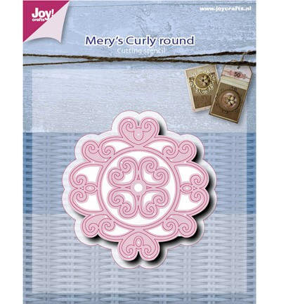 38697 Joy Crafts Mery`s Curly Round 2pcs / 60 x 62 / 27x27mm (6002/0517).