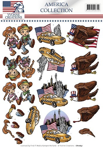 38710 (796) Yvonne Creations - America Collection - Cowboy & Girl (CD10657).