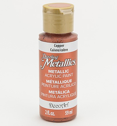 38780 Deco Art Dazzling Metallics Flesje 59 ML Copper (DA205).