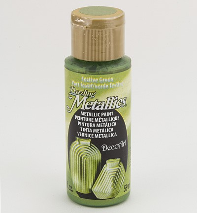 38789 Deco Art Dazzling Metalics Flesje 59 ML Festive Green.