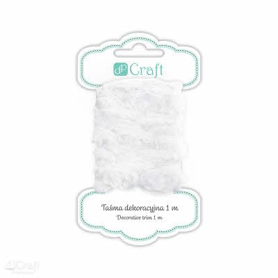 38834 Decorative Trim Roses 1 M - White.