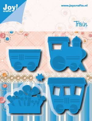 39134 Joy Crafts Snij & Embossing Stencil Trein (6200-0513).