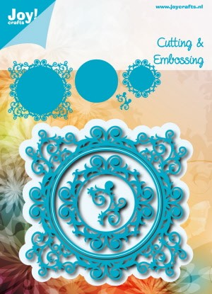 39133 Joy Crafts Snij en Embossing Stencil Blauwe Mal (6002/0537).