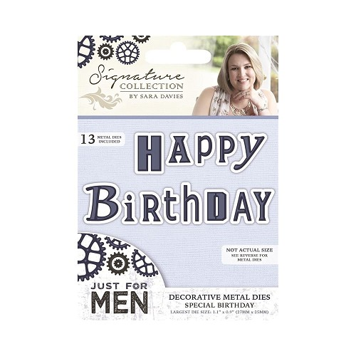 39165 Crafters Companion Just For Men Guitar Special Birthday.