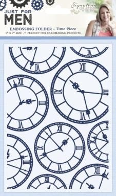 39168 Crafters Companion Embossing Folder 5x7 Time Piece.