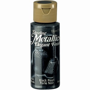 39223 Deco Art Dazzling Metallics Flesje 59 ML Black Pearl (DA127).