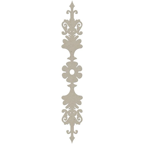 "39494 Die-Cut Grey Chipboard Embellishment Album Border 2/Pkg, 1.25""X8.75""."
