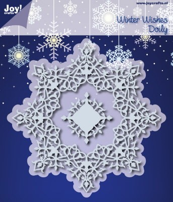 39637 Joy Crafts Snij-/Embossing stencil Winter Wishes Doilie (6002/0536).