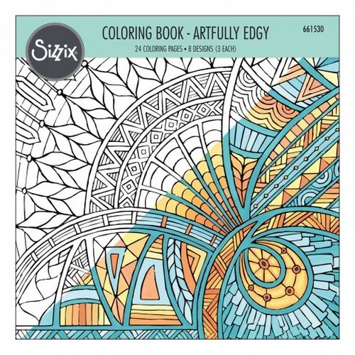 39844 Sizzix Colouring Book - Artfully Edgy 661530 Jen Long.