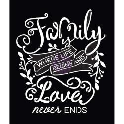 39877 Prima Marketing Stencil A4 Family Love.
