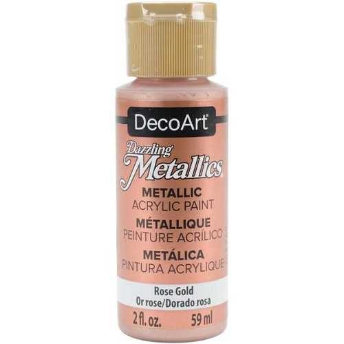 40037 Deco Art Dazzling Metalics Flesje 59 ML Rose Gold (DA336).