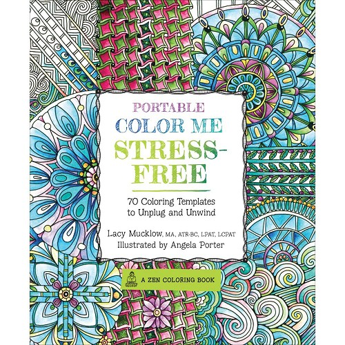 40098 Race Point Publishing Books Portable Color Me Stress-Free.