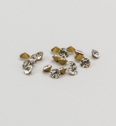 40105 Puntstrass Formaat: 20pcs / ss10, 2,7-2,8mm Crustal (12003-2101).