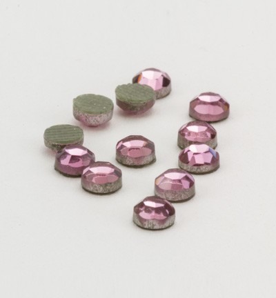 40116 Hotfix Strass Rose Formaat: 16pcs / ss12, 3,1-3,2mm (12004-2108).