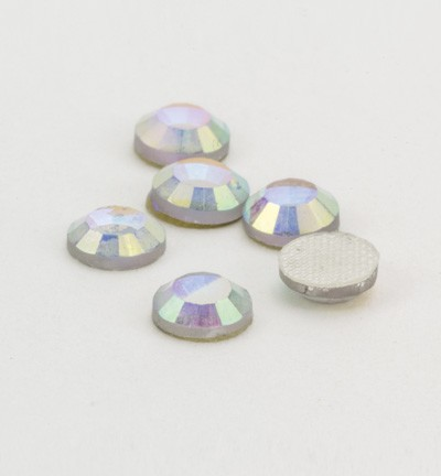 40121 Hotfix Strass AB Crystal Formaat: 6pcs / ss20, 4,7-4,8mm (12004-2441).