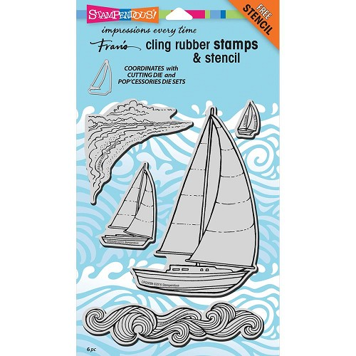40174 Stampendous Cling Stamps & Stencil Sailboats.